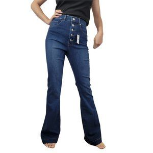 New Express High Rise Bell Flare Jeans Size 6R